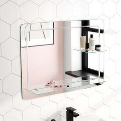 Ava Bathroom Mirror With Glass Shelves 600x800mm Bathroom Mountain